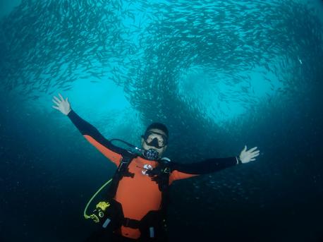 begnner diver in thailand